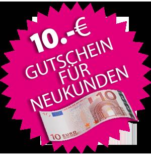 10 Euro Neukundengutschein Grafik